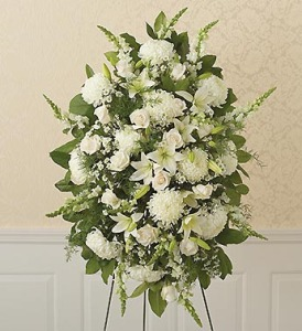 standing spray funeral floral tributes